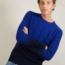 Gradient round neck sweater in cotton and linen - Dante