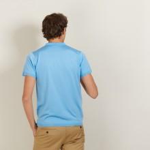 Polo en Fil Lumière à flèches - Billy 2750 perruche - 06 Bleu moyen