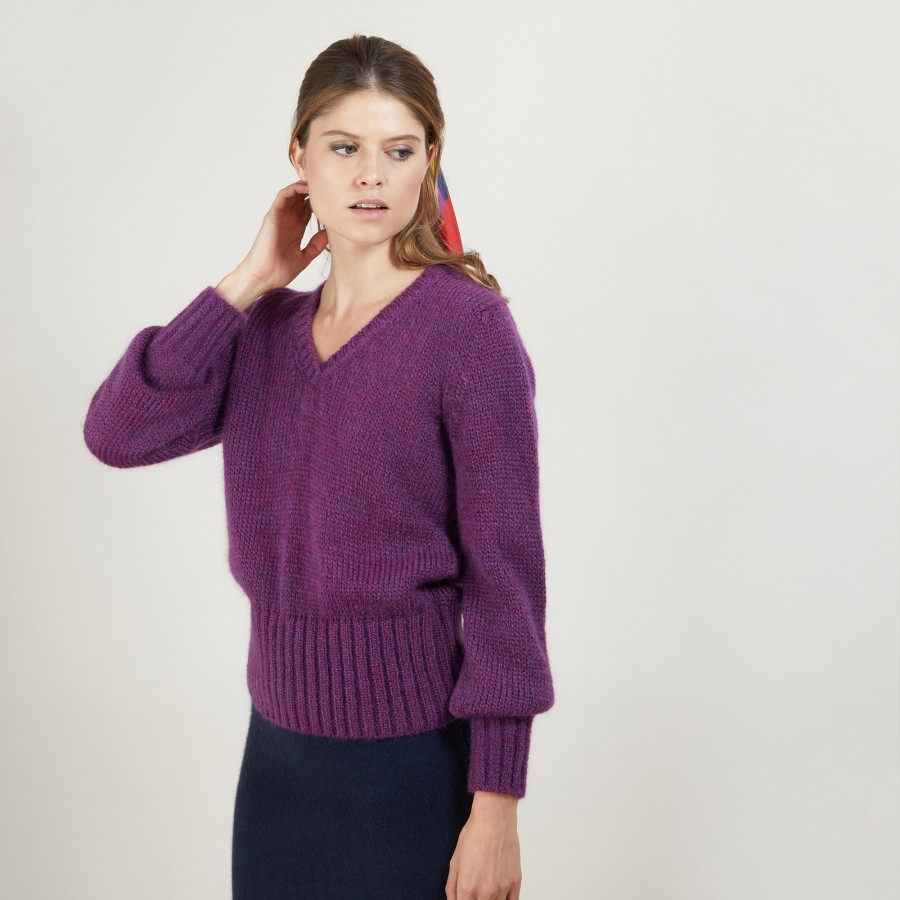 V-neck mohair sweater - Gracy