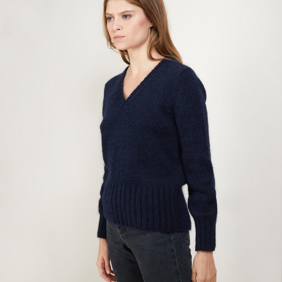 V-neck mohair sweater - Gracy