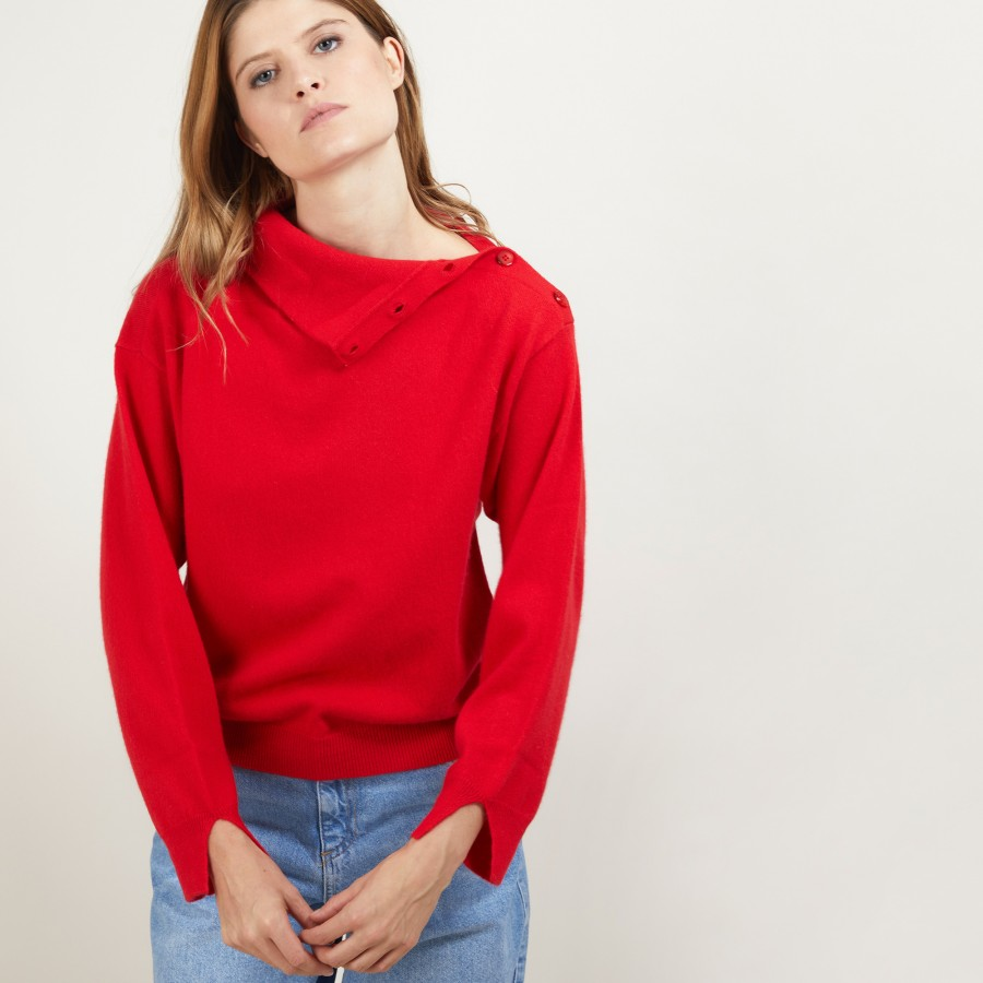 Cashmere sweater with button-down collar - Gretel bis