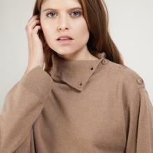 Cashmere sweater with button-down collar - Gretel bis