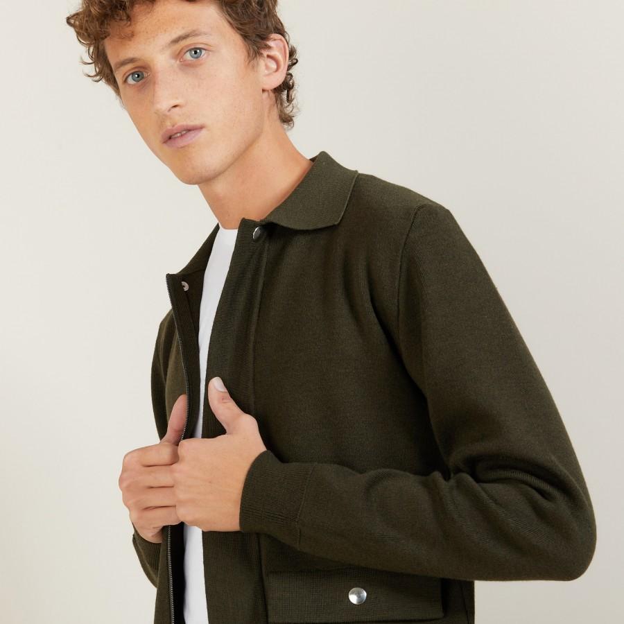 Veste à poches en laine - Leopol