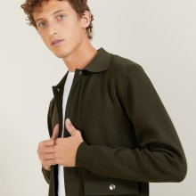 Veste à poches en laine - Leopol 7050 bronze - 83 Kaki