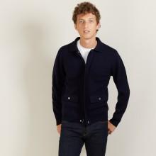 Veste à poches en laine - Leopol 7040 marine - 05 Bleu marine