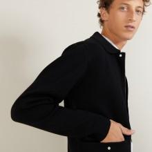 Veste à poches en laine - Leopol 7010 noir - 01 Noir