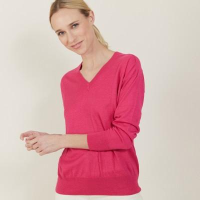 Linen cashmere hammer armholes sweater - Bailen