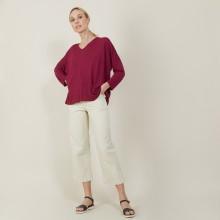 T-shirt ample en lin flammé - Balou 7282 rubis - 51 Bordeaux