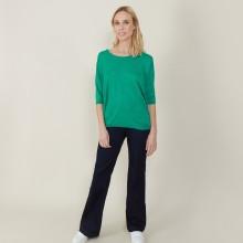T-shirt ample col rond en lin flammé - Mairena 7280 ecarlate - 52 Rouge