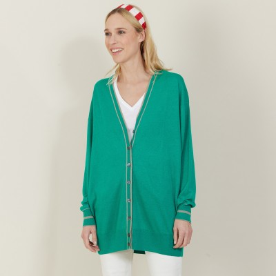 Long linen cashmere cardigan - Narcissa