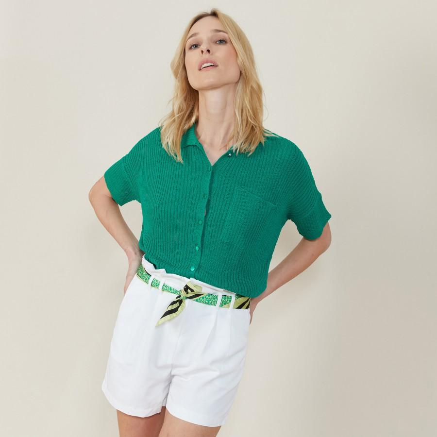 Chemise ample en côtes plates - Molly 7250 veronese - 22 Vert moyen