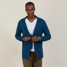 Blazer à poches en coton - Bacari 7241 corsaire - 06 Bleu moyen