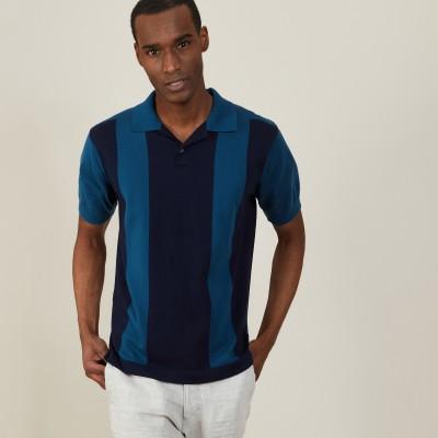 Two-tone organic cotton polo shirt - Paolo
