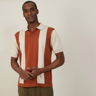 Polo bicolore en coton bio - Paolo