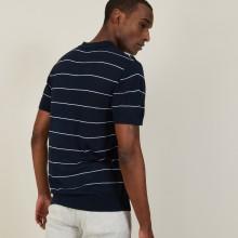 Two-tone slub linen polo shirt - Pierre