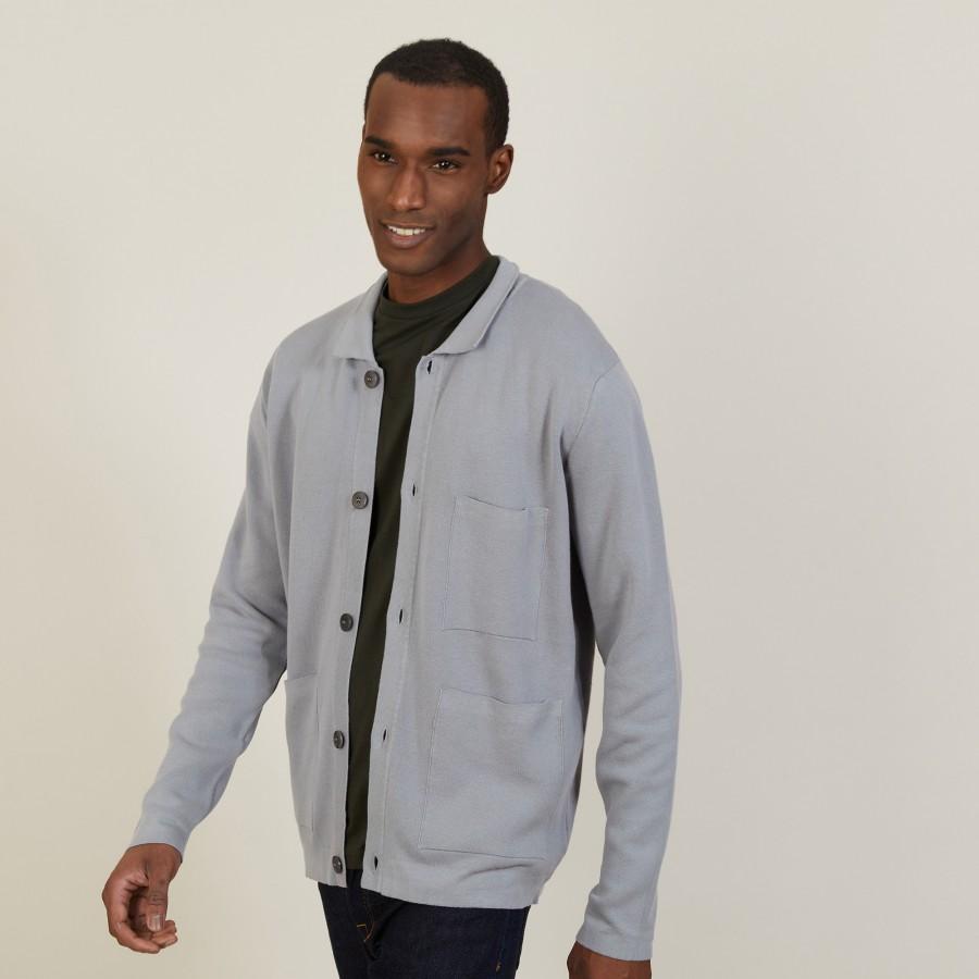 Dry cotton cardigan with pockets - Balto