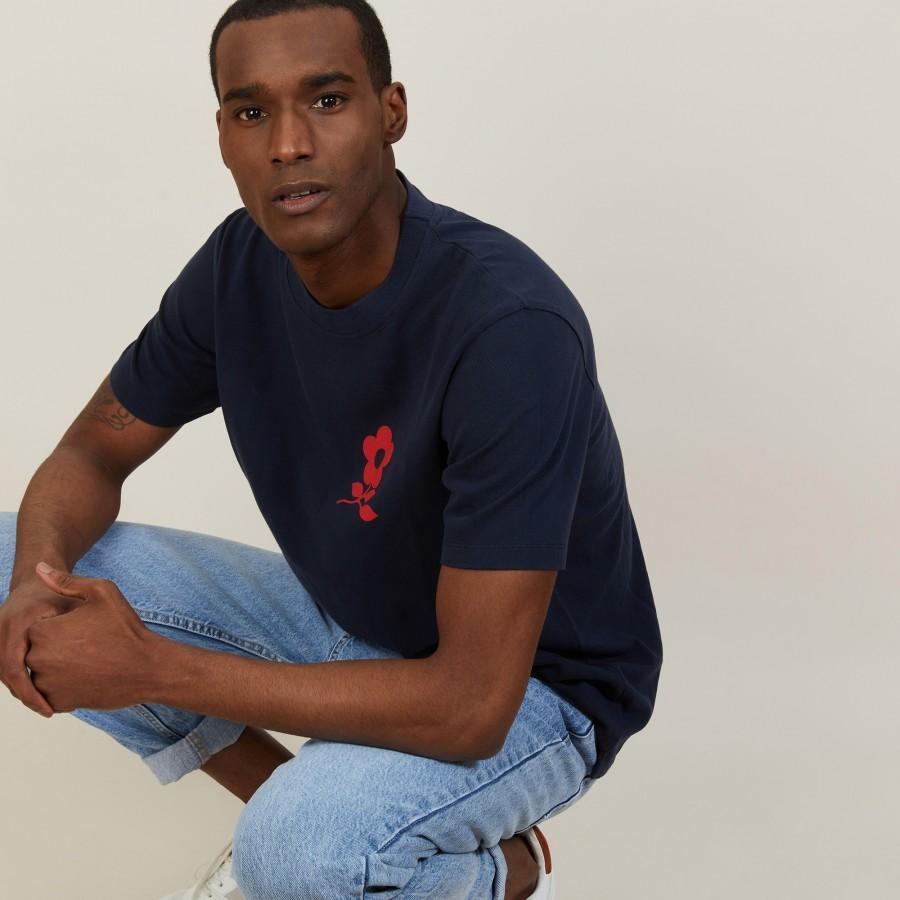 T-shirt en coton avec logo - Bahut 7240 marine - 05 Bleu marine