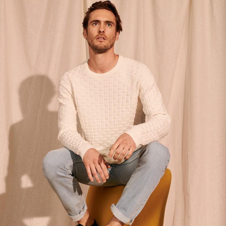 Organic cotton raglan sleeve sweater - Pepino