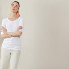 Round-neck slub linen T-shirt - Bonnie