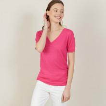 Slub linen V-neck T-shirt - Bountie