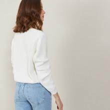Chunky knit organic cotton cardigan - Mina