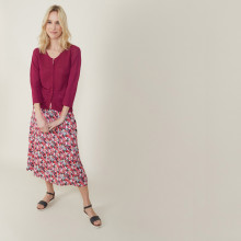 Slub linen cardigan with pockets - Bao