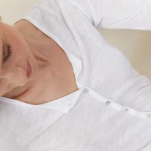 Cardigan à poches en lin flammé - Bao 7200 blanc - 02 Blanc