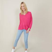 T-shirt ample en lin flammé - Balou 7283 corolle - 91 Fuchsia