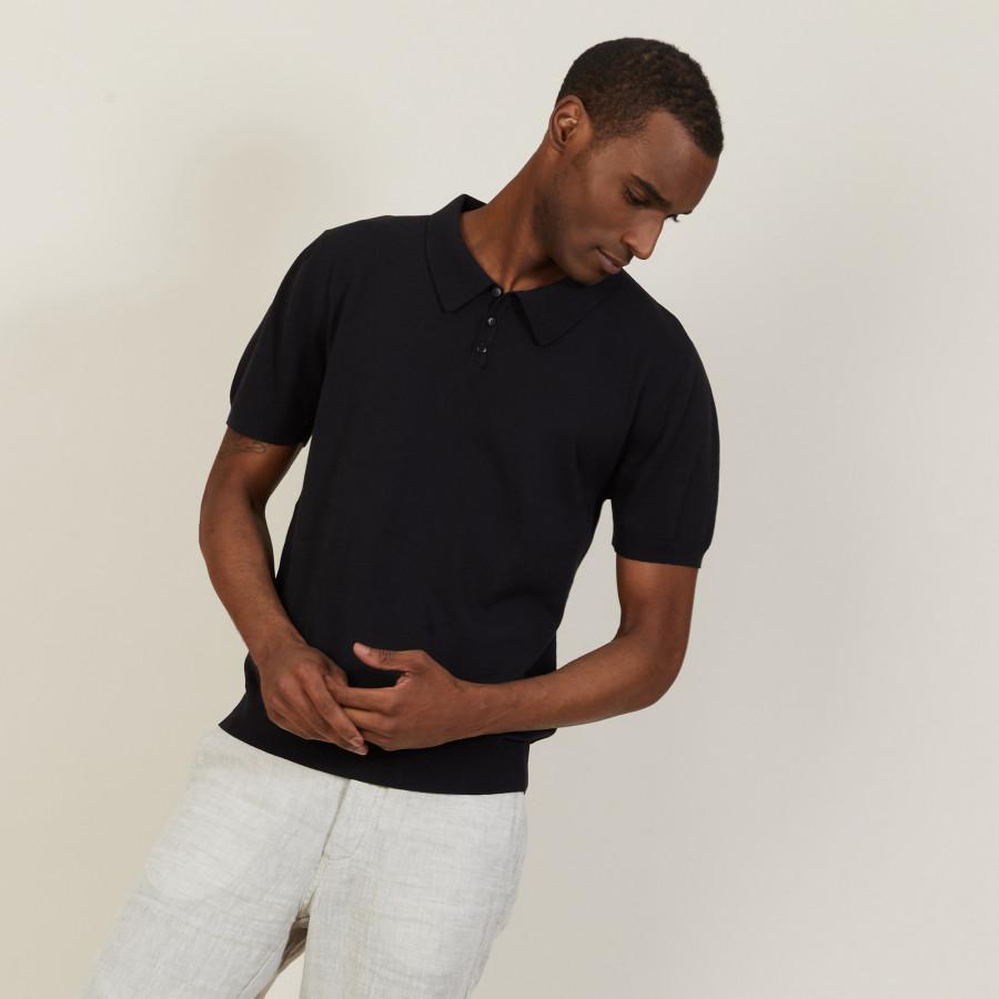 Plain dry cotton polo shirt - Bank