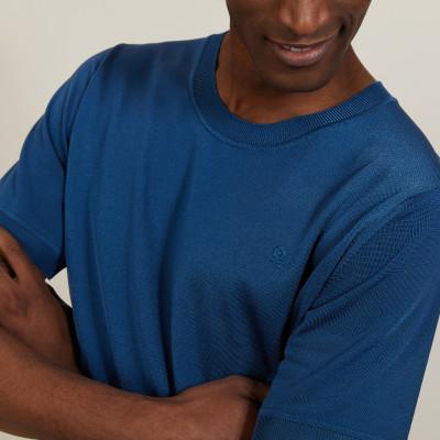 T-shirt col rond en Fil Lumière - Bocca