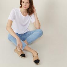 T-shirt manches courtes en Fil Lumière - Adeline 0330 blanc - 02 Blanc