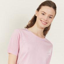 T-shirt manches courtes en Fil Lumière - Adeline 2733 rose - 24 Rose clair