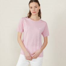 Short-sleeved T-shirt in Fil Lumière - Adeline