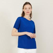 T-shirt manches courtes en Fil Lumière - Adeline 2745 nuit - 75 Bleu nuit