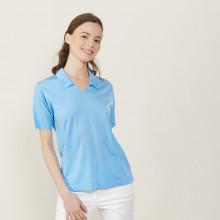 Polo manches courtes à motifs - Angie 2750 perruche - 06 Bleu moyen