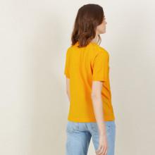 T-shirt col V à motifs en Fil Lumière - Amy 2688 solaire - 50 Jaune foncé