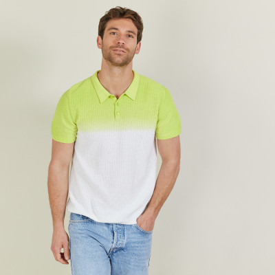 Gradient cotton and linen polo shirt - Django