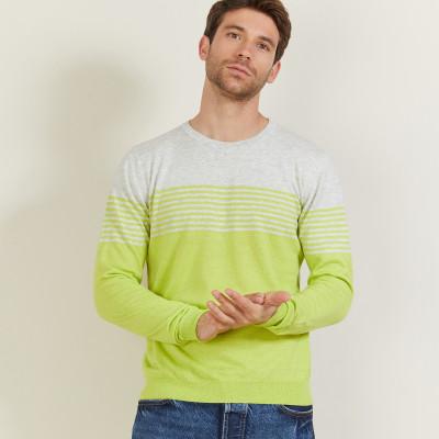Striped cashmere and linen sweater - Dalton