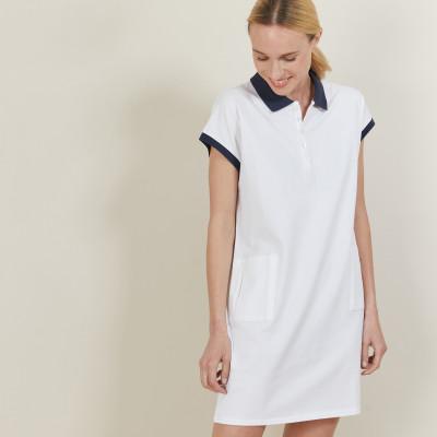 Robe manches courtes en coton - Angy