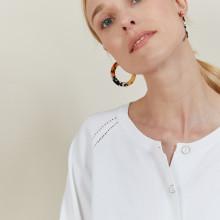 Gilet avec cordon en coton Aniss 6200 Blanc - 02 Blanc