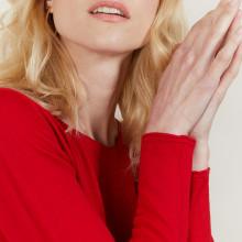 Pull ras du cou femme Bourse 6191 Clochette - 16 Violet clair
