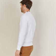 Cotton button shoulder sweater - Bonze