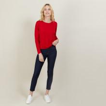 Pull court en laine mérinos - Les Halles 6180 coccinelle - 52 Rouge