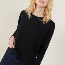 Pull court en laine mérinos - Les Halles 6110 noir - 01 Noir