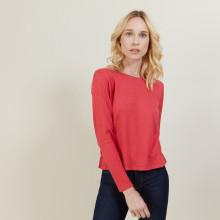 Cropped merino wool sweater - Les Halles