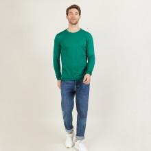 Pull ras du cou en laine mérinos - Bertille 6051 lutin - 22 Vert moyen