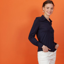Long-sleeved tencel shirt - Now