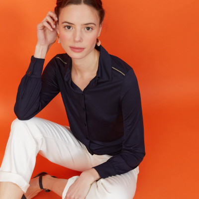 Chemise manches longues en Lyocell - Now