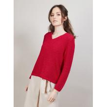 Pull col V en soie coton et laine - Blovis 6800 blanc - 82 Ecru
