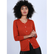 Gilet en laine mérinos - Belita 6610 noir - 01 Noir